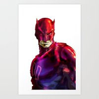 daredevil Art Prints featuring DAREDEVIL by peocle