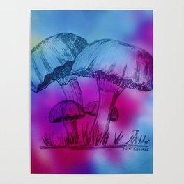 Omi's Mushrooms Poster