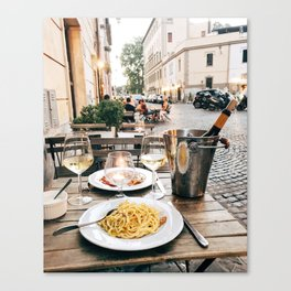 Dinner in Rome Canvas Print