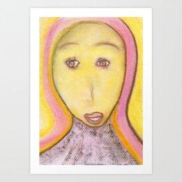 Spiritual Angel Chalks Drawing of Archangel Michael  Art Print