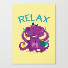 :::Relax Monster::: Canvas Print
