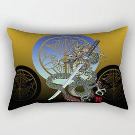 Dragon katana Uesugi Rectangular Pillow