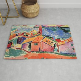 Henri Matisse The Roofs of Collioure Rug