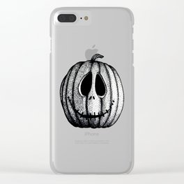 Jack O'Lantern Clear iPhone Case