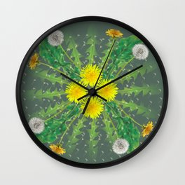 Dandelion Cycle Wall Clock