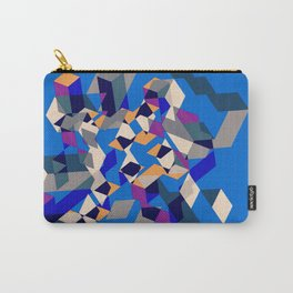 Blue collage Carry-All Pouch