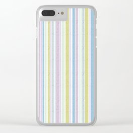 Multicoloured striped pattern in pastel shades Clear iPhone Case