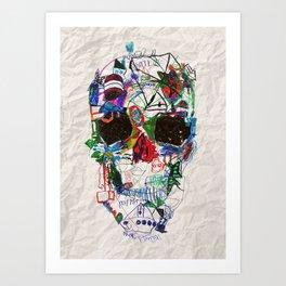 Ruzgars Skull Art Print