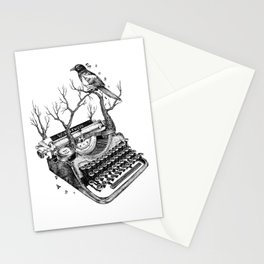 Magpie,  letterhief Stationery Cards