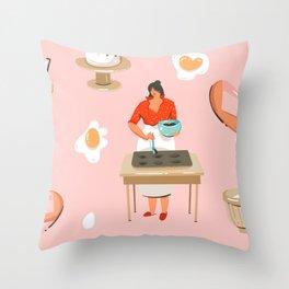 Brownie Batter Throw Pillow