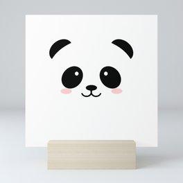 Baby panda emoji Mini Art Print