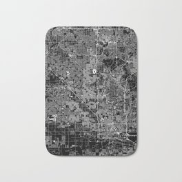 Phoenix Black Map Bath Mat