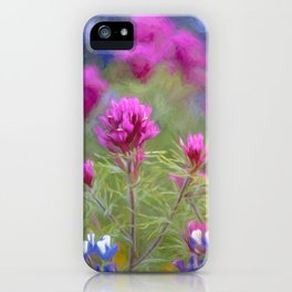 California Wildflowers natural pattern 2 iPhone Case