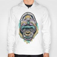 gorilla Hoodies featuring Gorilla by casiegraphics