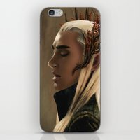 thranduil iPhone & iPod Skins featuring Thranduil by Julia Bland