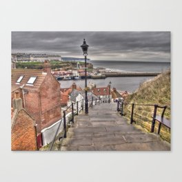 Whitby On a Cloudy Day Canvas Print