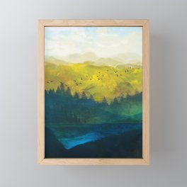 Mountain Lake Framed Mini Art Print