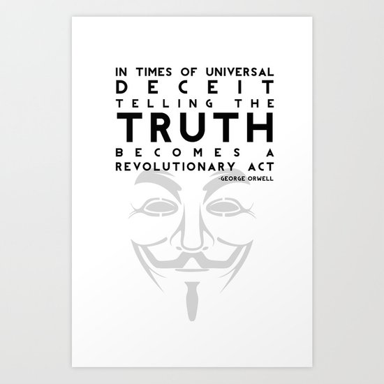 Truth Revolution - V for Vendetta Art Print