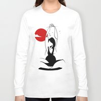 yoga Long Sleeve T-shirts featuring Yoga by rbengtsson
