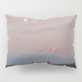 Mount Rainier Moon Rise Pillow Sham
