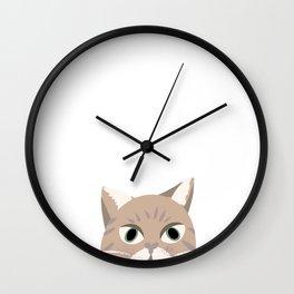 Stripe Cat Wall Clock