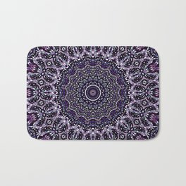 Purple, Gray, and Black Kaleidoscope 2 Bath Mat