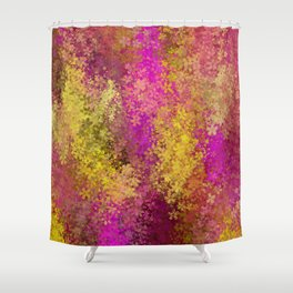 flower pattern abstract background in pink and yellow Shower Curtain
