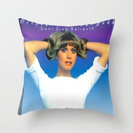Olivia Newton-John - Don't Stop Believing Throw Pillow