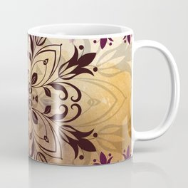 ELEGANT FLORAL WATERCOLOUR MANDALA Coffee Mug