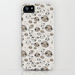 Happy Sloth Faces iPhone Case