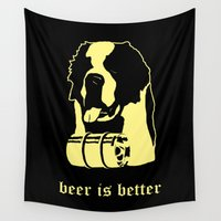 beer Wall Tapestries featuring Beer by Andrea Bettin ART