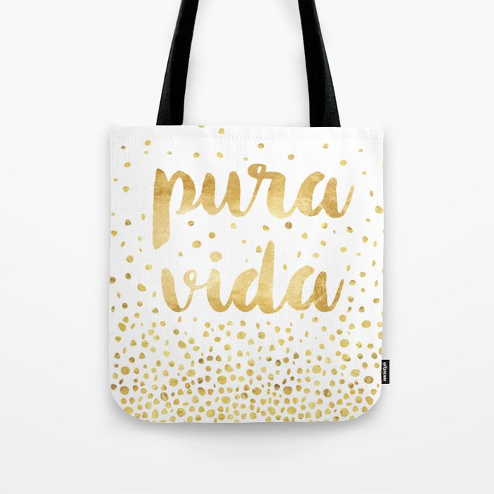 VIDA Tote Bag - Blue Black Design 57 by VIDA