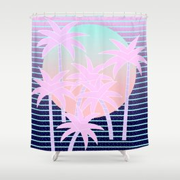 Hello Miami Moonlight Shower Curtain
