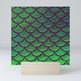 Emerald Eggplant Scales Mini Art Print