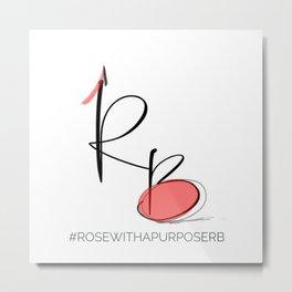 RB #rosewithapurpose Metal Print