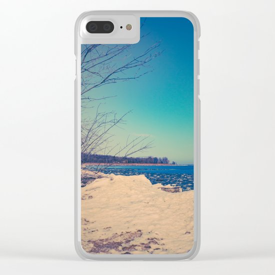 Winter Romance Clear iPhone Case