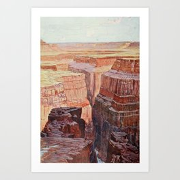 Cassell's Popular Science 1900 - A View of the Colorado Canons Art Print