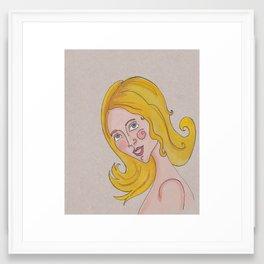 Thank You Girls Framed Art Print