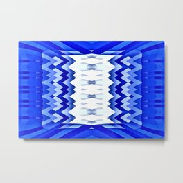 Striking Pencils-blue Metal Print