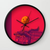 stiles stilinski Wall Clocks featuring Stiles by robin