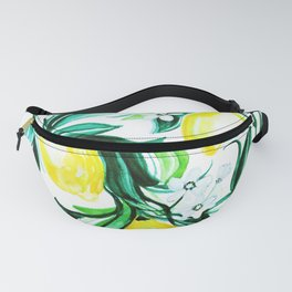 lemon branch watercolor Fanny Pack