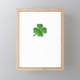 Naughty Feck Off Distressed Font Shamrock Irish Drunk Ireland Framed Mini Art Print