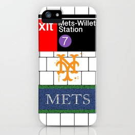 NYC Mets Subway iPhone Case