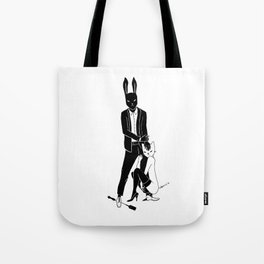 Mr Bunny and Catpurrrs lady Tote Bag