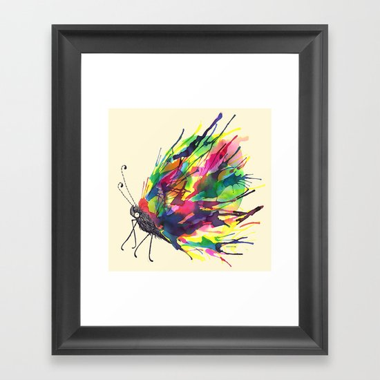 From a Black cocoon Framed Art Print