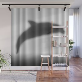 Dolphin Silhouette Wall Mural