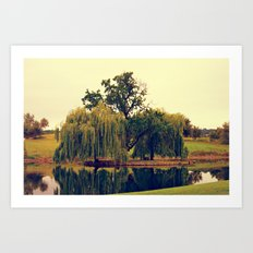 Weeping Willow Island Art Print
