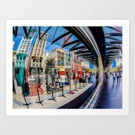 Abstract on Bourke Art Print