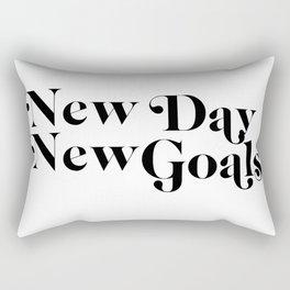 new day new goals Rectangular Pillow