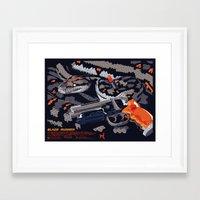 blade runner Framed Art Prints featuring Blade Runner by Mike Wrobel